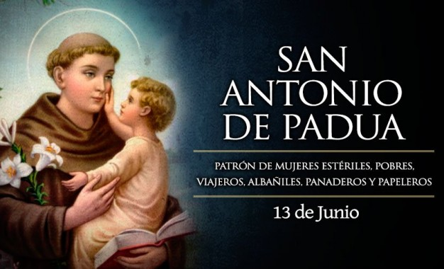 Hoy es la fiesta de San Antonio de Padua