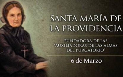 Hoy es la fiesta de Santa María de la Providencia, devota de las almas del Purgatorio