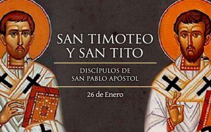 San Tito y San Timoteo, discípulos de San Pablo Apóstol